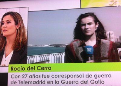 """Rocío del Cerro, corresponsal de guerra para TeleMadrid, """"Programa especial Corresponsales de Guerra"""""""